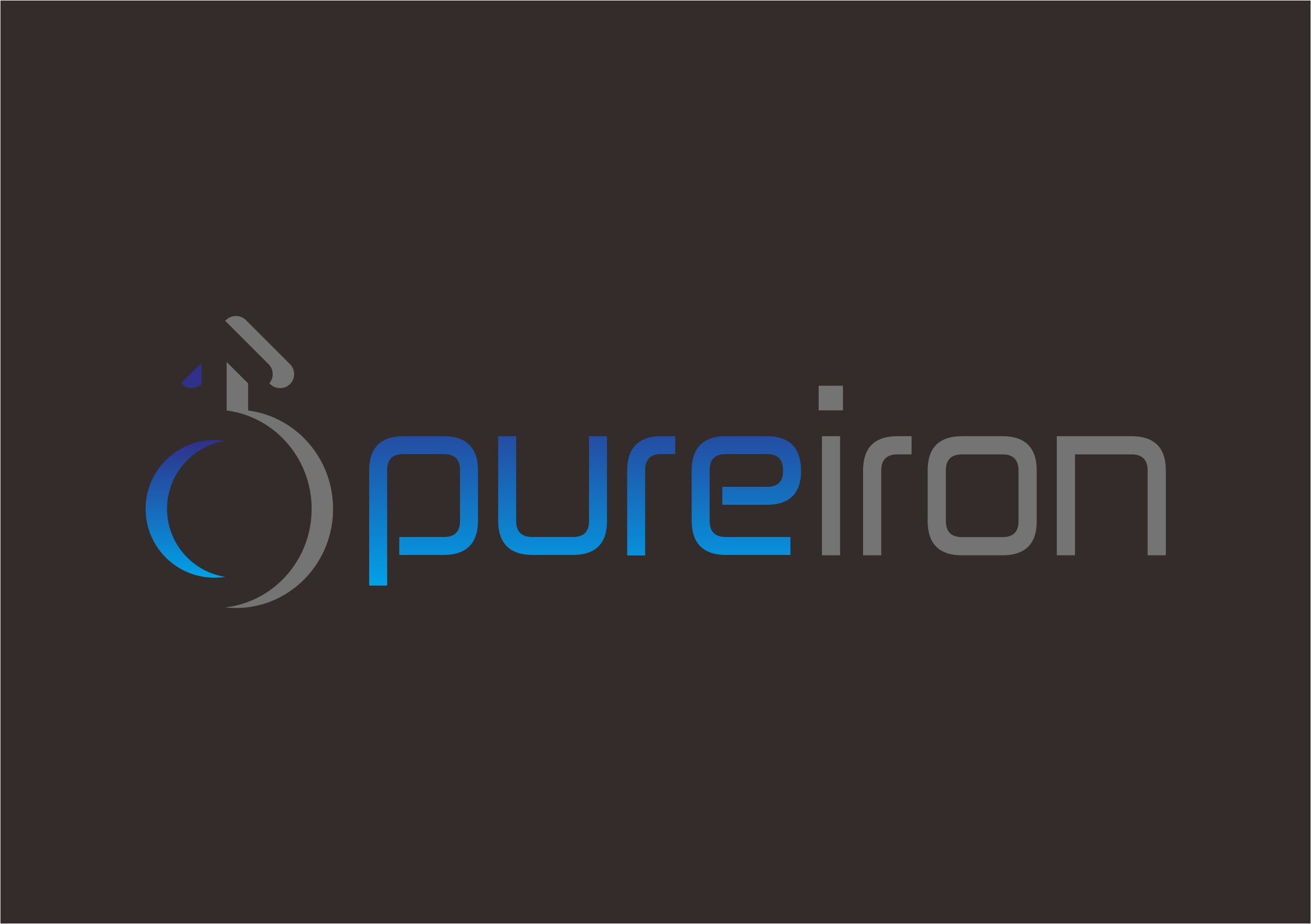 Logo Design by Teguh Mudjianto - Entry No. 21 in the Logo Design Contest Fun Logo Design for Pure Iron.