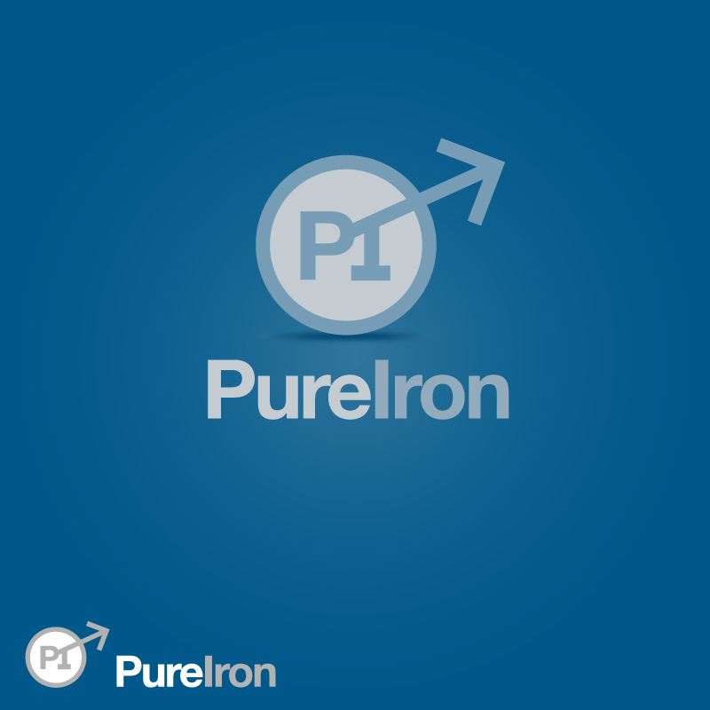 Logo Design by trav - Entry No. 23 in the Logo Design Contest Fun Logo Design for Pure Iron.