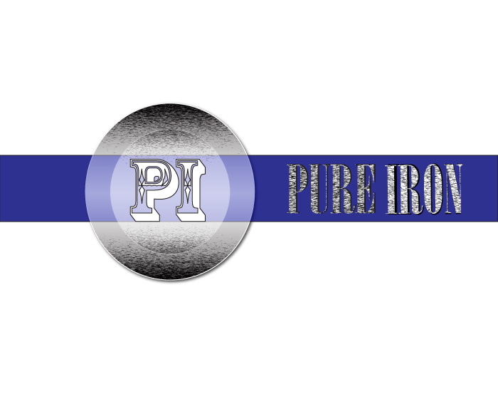 Logo Design by Diana Roder - Entry No. 31 in the Logo Design Contest Fun Logo Design for Pure Iron.