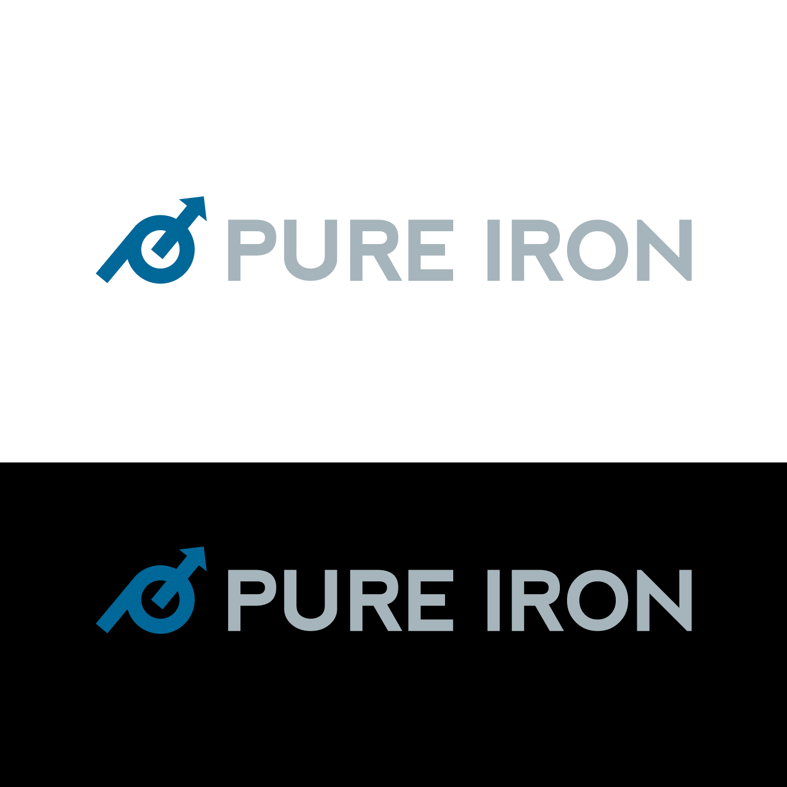 Logo Design by luna - Entry No. 40 in the Logo Design Contest Fun Logo Design for Pure Iron.