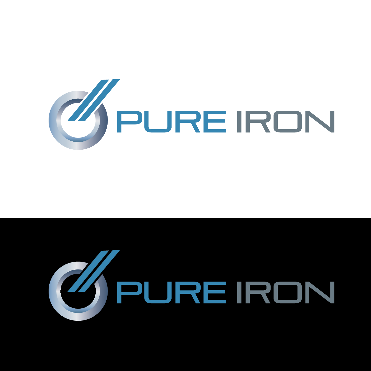 Logo Design by luna - Entry No. 42 in the Logo Design Contest Fun Logo Design for Pure Iron.