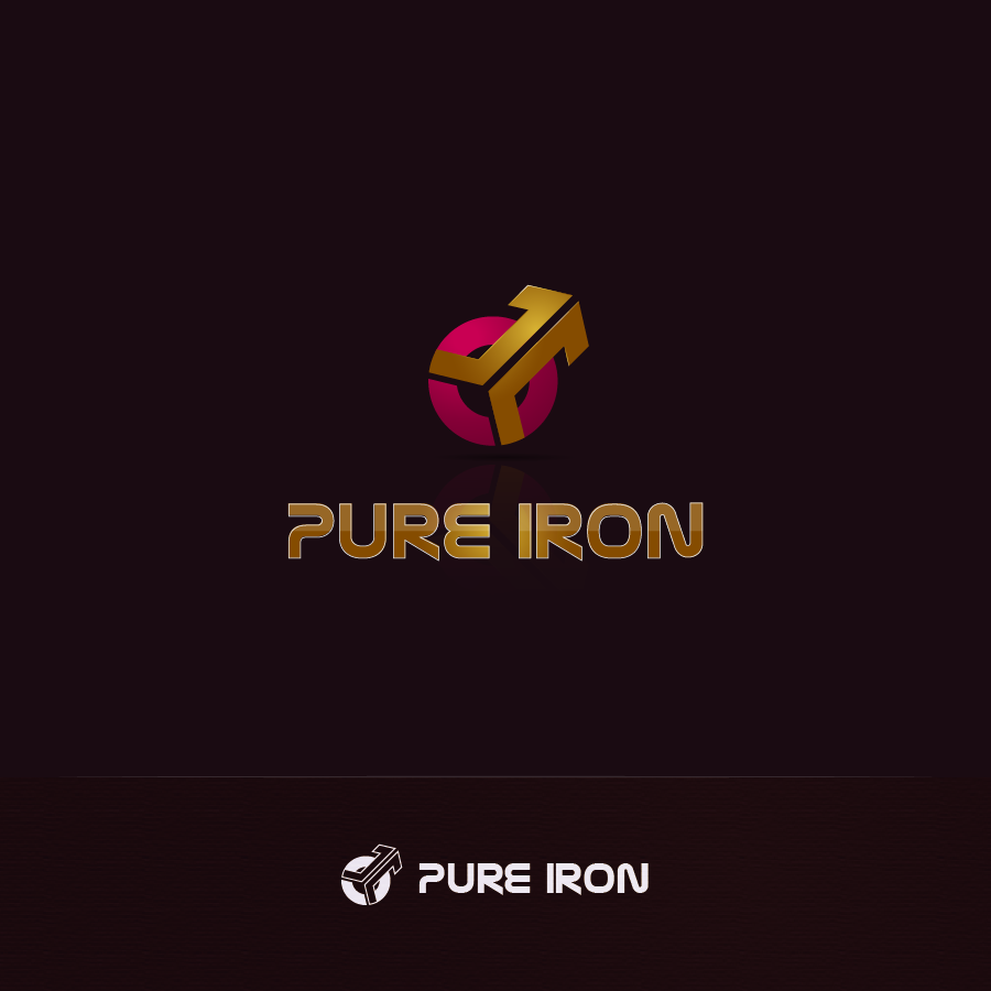 Logo Design by zesthar - Entry No. 50 in the Logo Design Contest Fun Logo Design for Pure Iron.