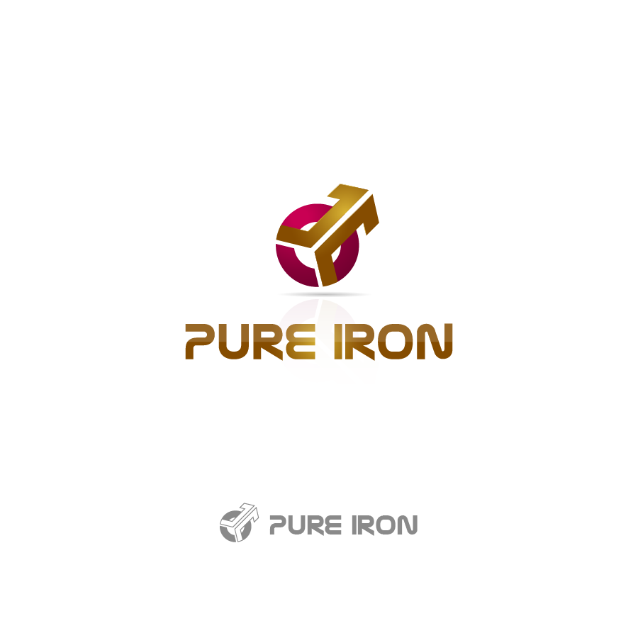 Logo Design by zesthar - Entry No. 51 in the Logo Design Contest Fun Logo Design for Pure Iron.