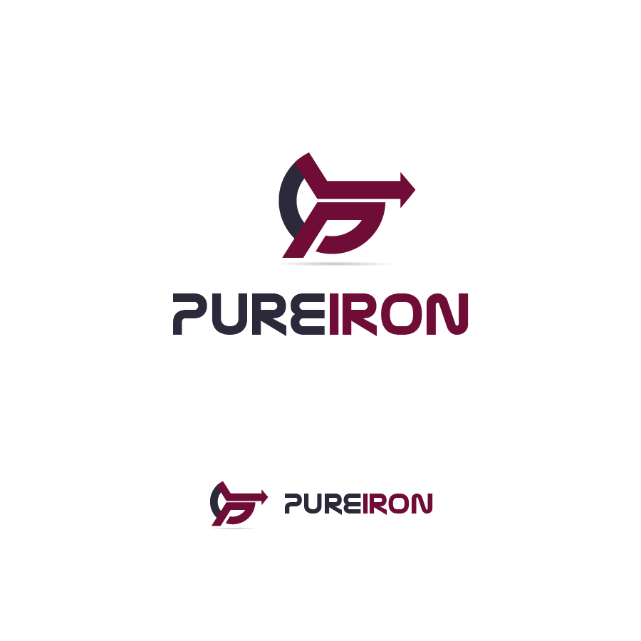 Logo Design by zesthar - Entry No. 52 in the Logo Design Contest Fun Logo Design for Pure Iron.