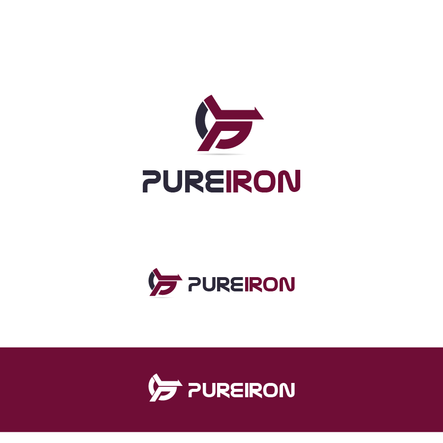 Logo Design by zesthar - Entry No. 53 in the Logo Design Contest Fun Logo Design for Pure Iron.