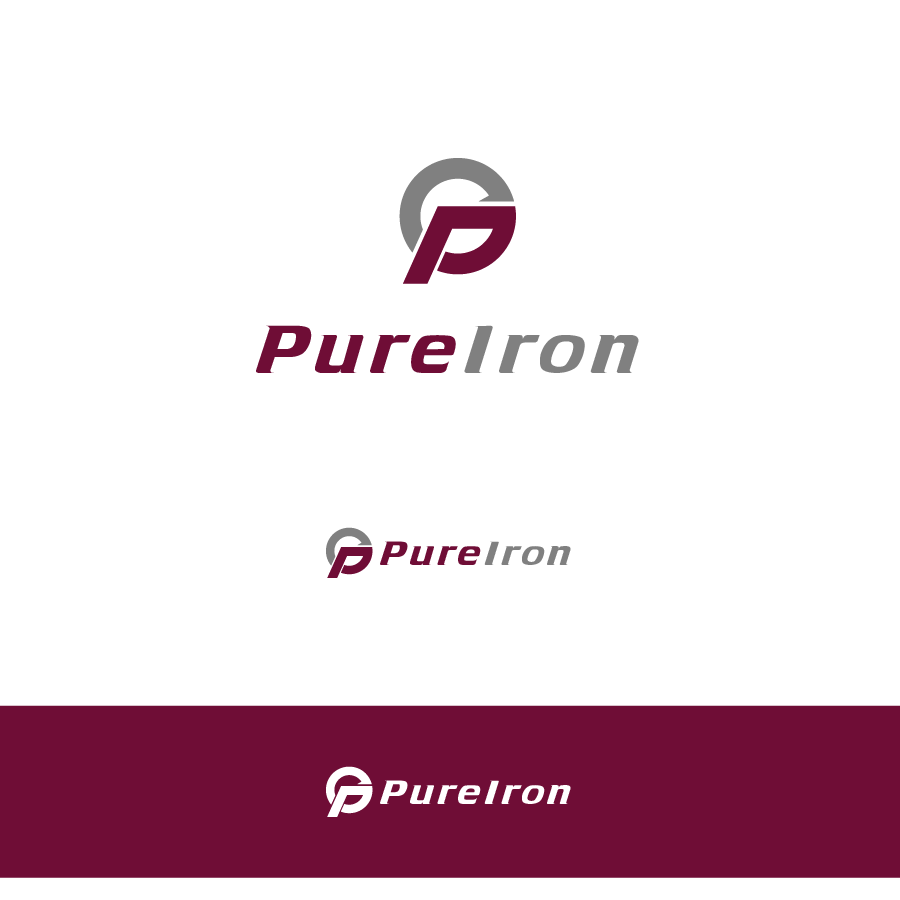 Logo Design by zesthar - Entry No. 54 in the Logo Design Contest Fun Logo Design for Pure Iron.