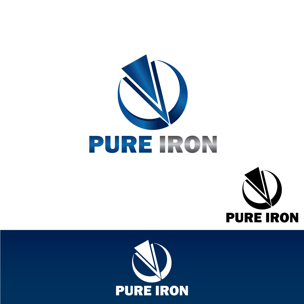 Logo Design by rockin - Entry No. 57 in the Logo Design Contest Fun Logo Design for Pure Iron.