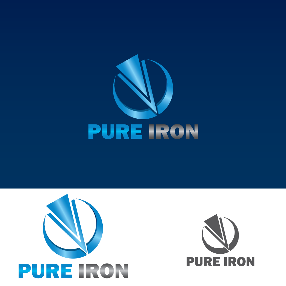 Logo Design by rockin - Entry No. 58 in the Logo Design Contest Fun Logo Design for Pure Iron.
