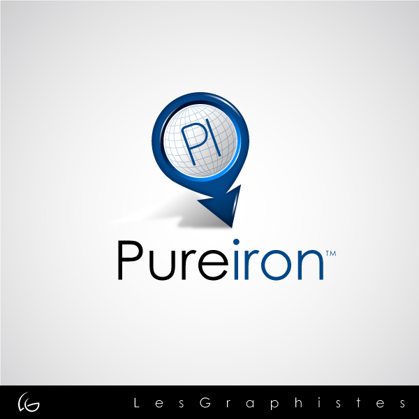 Logo Design by Les-Graphistes - Entry No. 64 in the Logo Design Contest Fun Logo Design for Pure Iron.