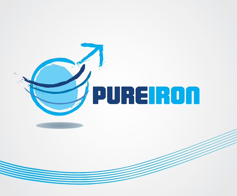 Logo Design by kowreck - Entry No. 65 in the Logo Design Contest Fun Logo Design for Pure Iron.