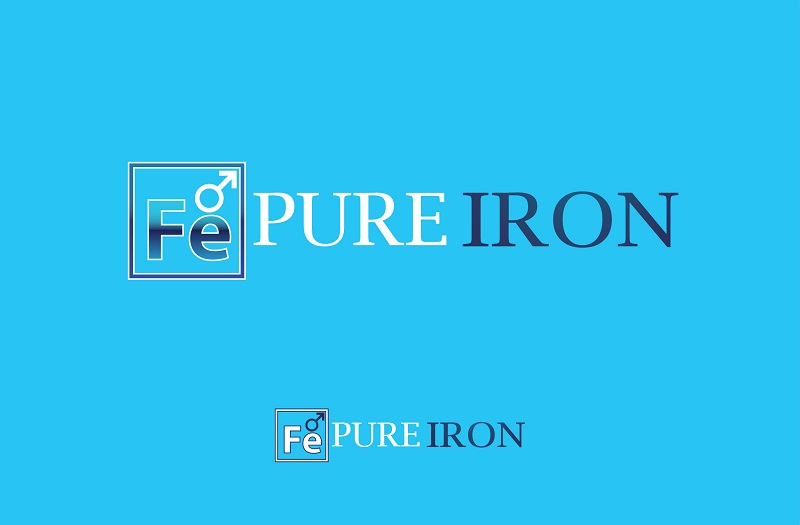 Logo Design by kowreck - Entry No. 67 in the Logo Design Contest Fun Logo Design for Pure Iron.