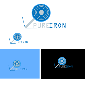 Logo Design by designabby - Entry No. 74 in the Logo Design Contest Fun Logo Design for Pure Iron.
