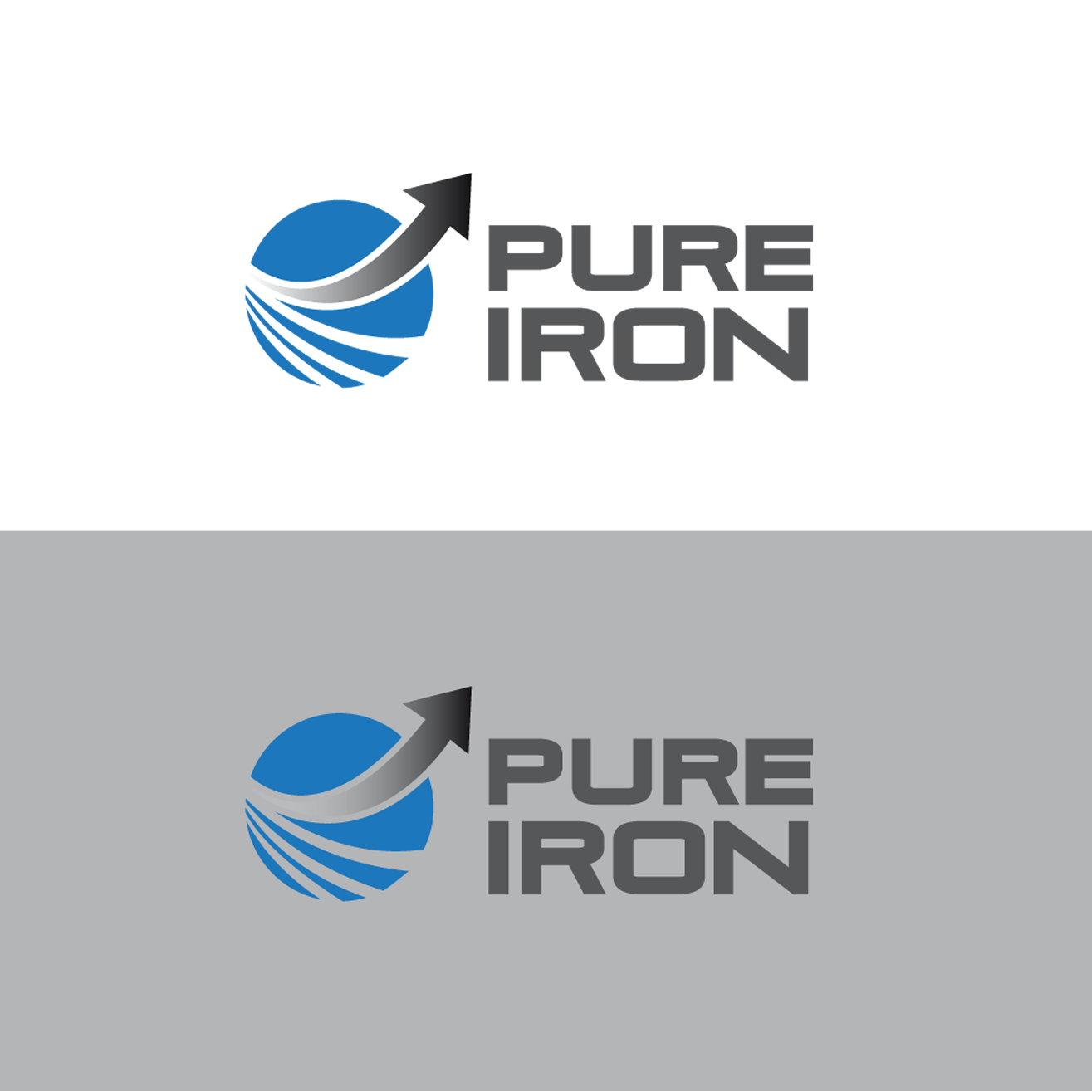 Logo Design by luna - Entry No. 87 in the Logo Design Contest Fun Logo Design for Pure Iron.