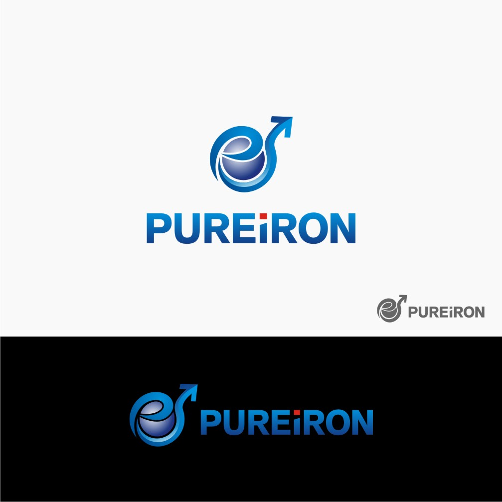 Logo Design by Muhammad Nasrul chasib - Entry No. 93 in the Logo Design Contest Fun Logo Design for Pure Iron.