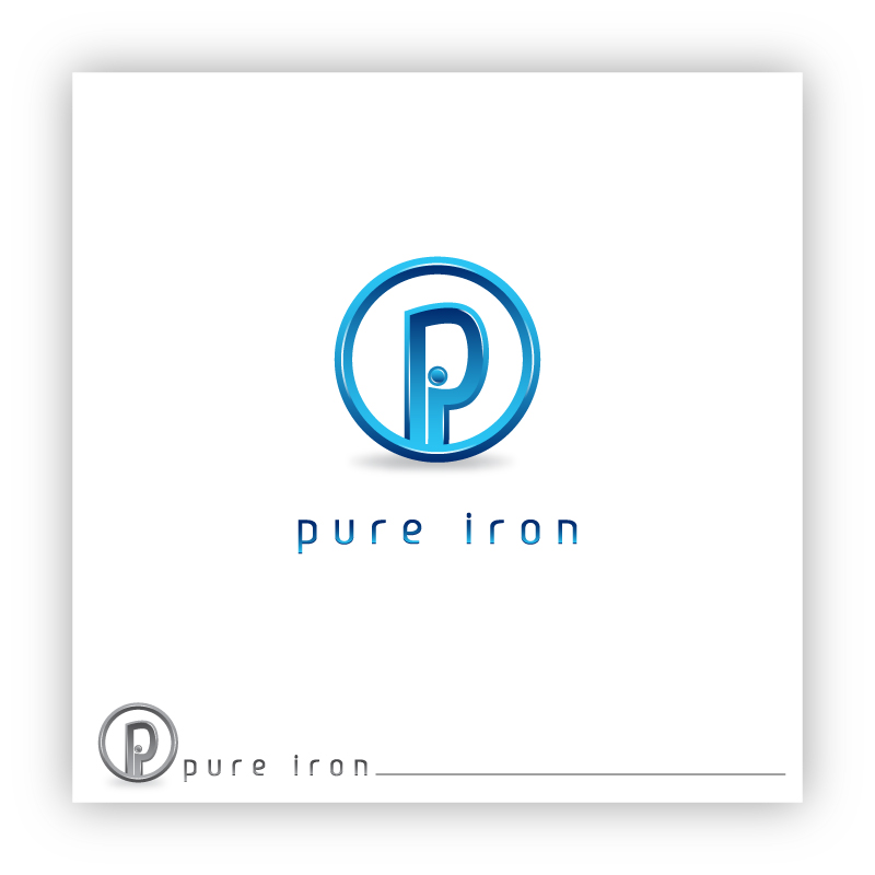 Logo Design by trav - Entry No. 116 in the Logo Design Contest Fun Logo Design for Pure Iron.