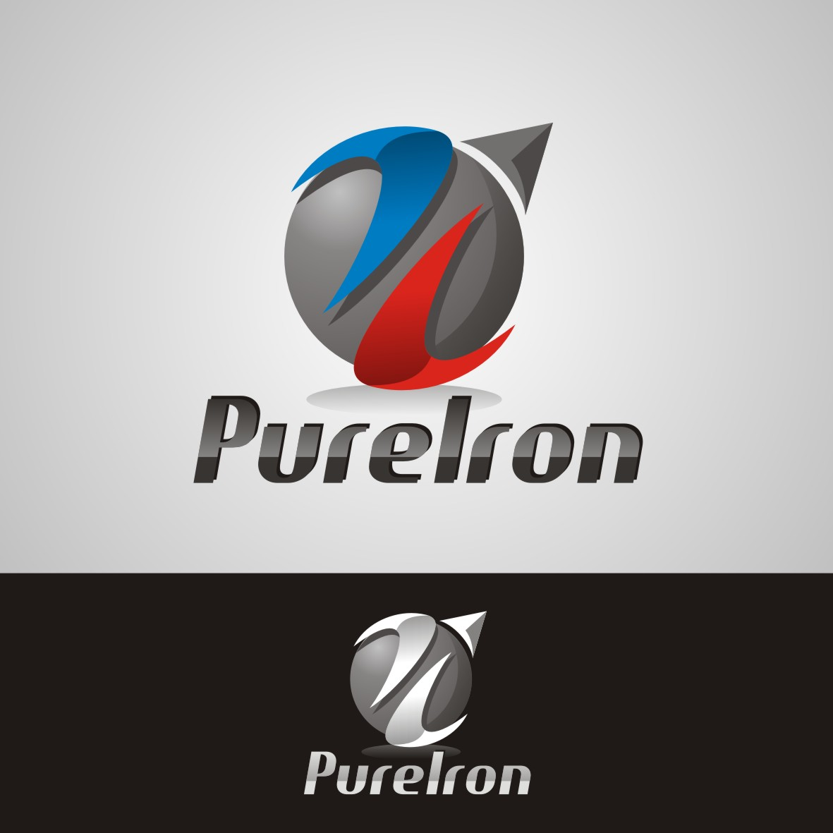 Logo Design by arteo_design - Entry No. 127 in the Logo Design Contest Fun Logo Design for Pure Iron.