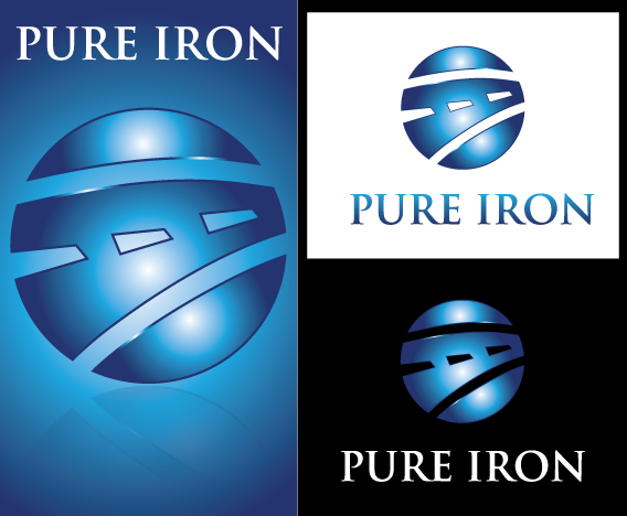 Logo Design by Sohil Obor - Entry No. 172 in the Logo Design Contest Fun Logo Design for Pure Iron.