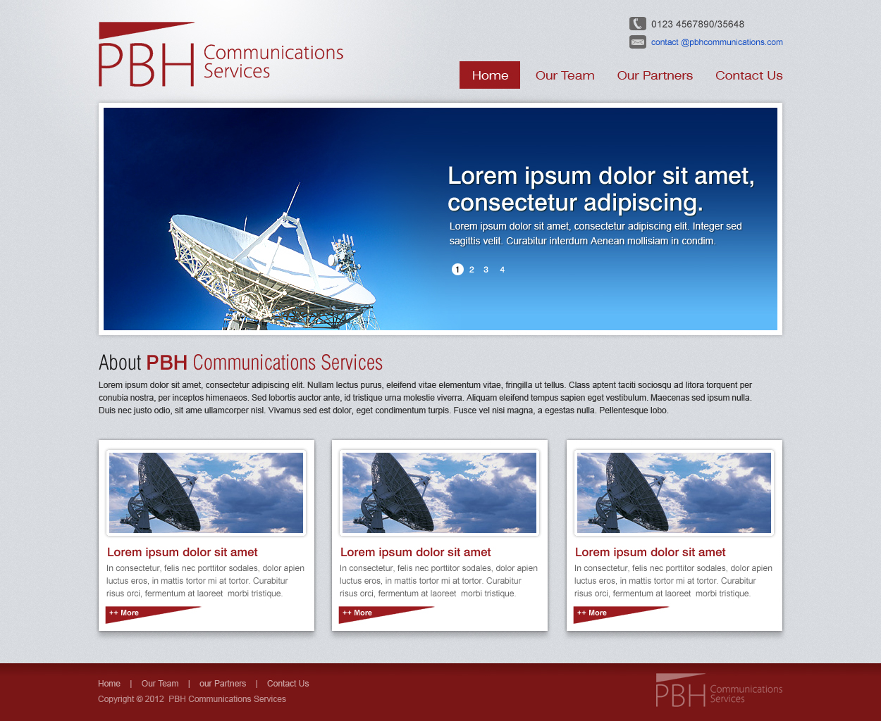 Web Page Design by Gautam Jana - Entry No. 21 in the Web Page Design Contest New Web Page Design for PBH Communications Services.