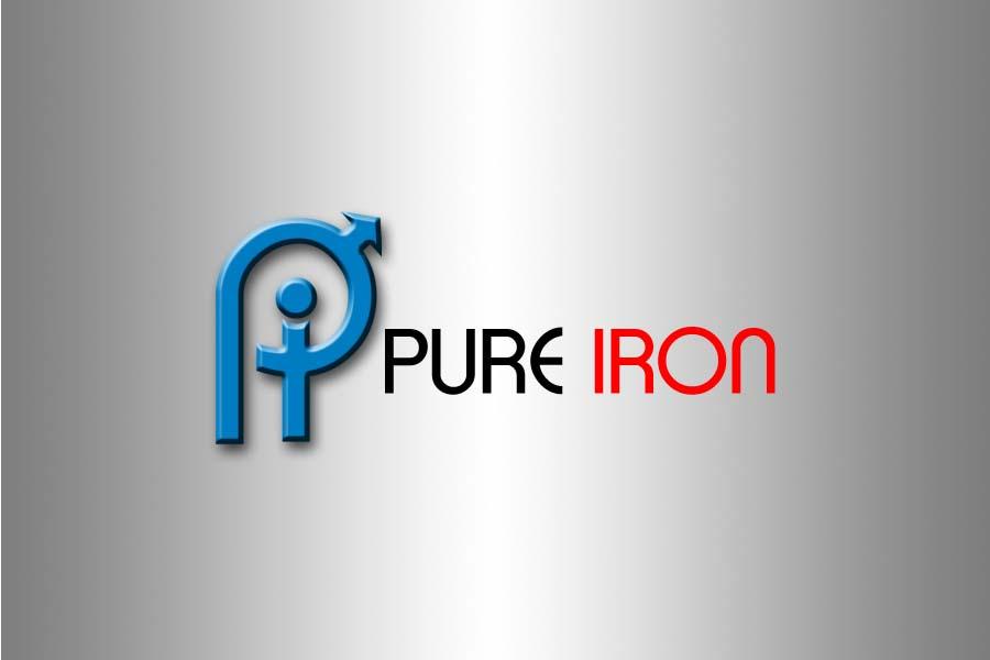 Logo Design by Private User - Entry No. 211 in the Logo Design Contest Fun Logo Design for Pure Iron.