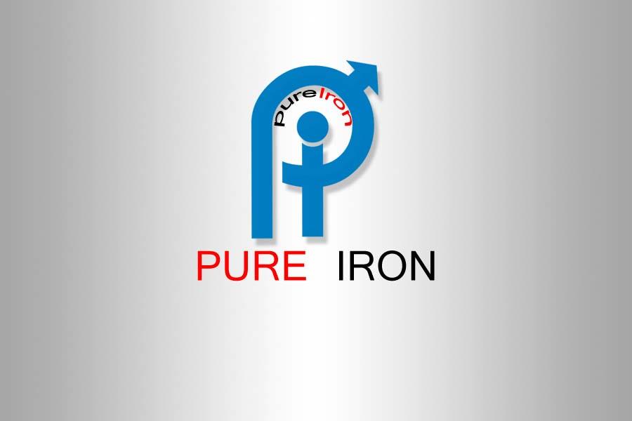 Logo Design by Private User - Entry No. 216 in the Logo Design Contest Fun Logo Design for Pure Iron.