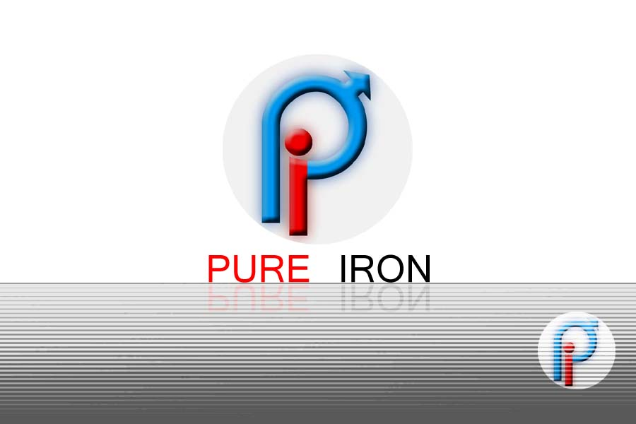 Logo Design by Private User - Entry No. 223 in the Logo Design Contest Fun Logo Design for Pure Iron.