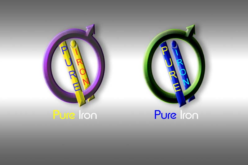 Logo Design by Private User - Entry No. 242 in the Logo Design Contest Fun Logo Design for Pure Iron.