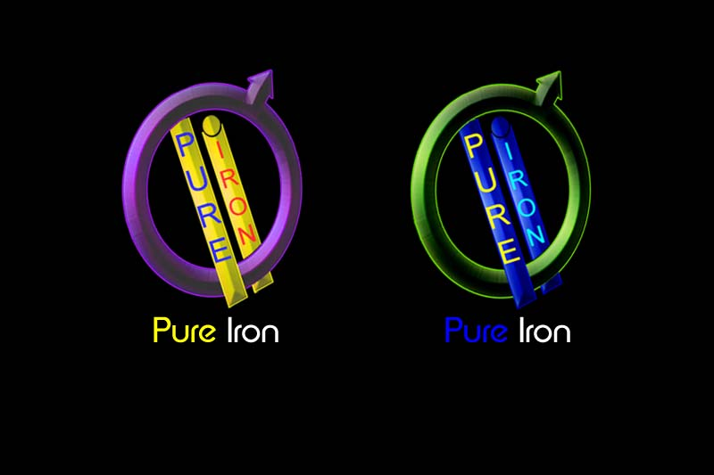 Logo Design by Private User - Entry No. 243 in the Logo Design Contest Fun Logo Design for Pure Iron.