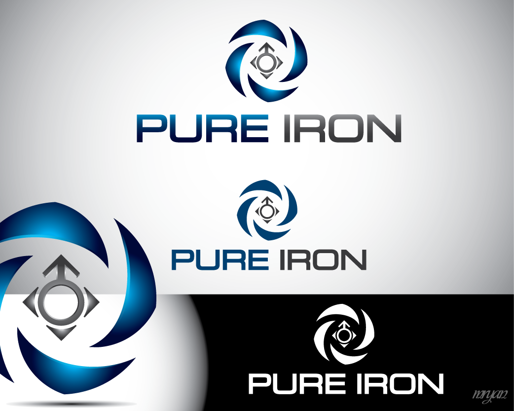 Logo Design by Private User - Entry No. 253 in the Logo Design Contest Fun Logo Design for Pure Iron.