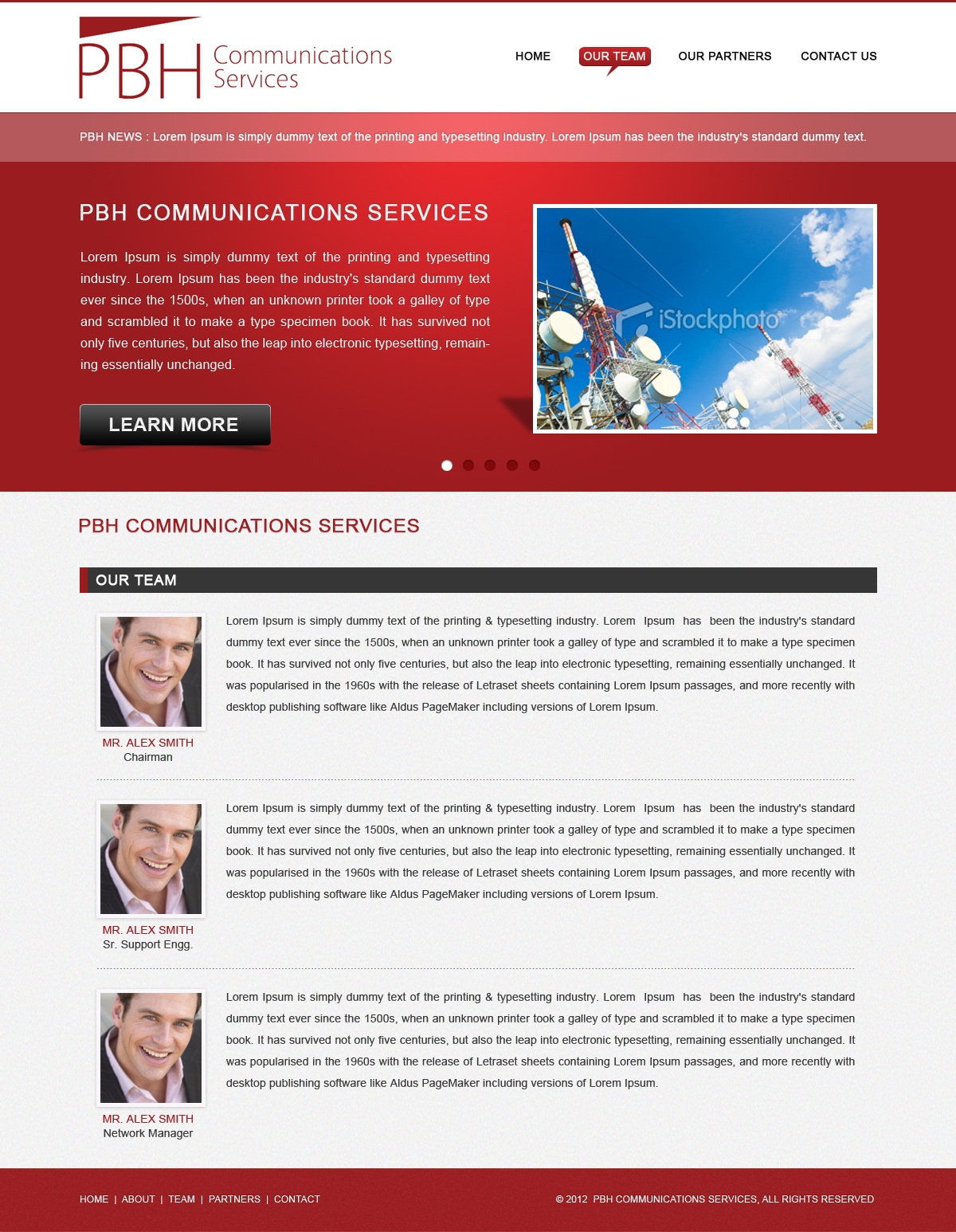 Web Page Design by Sohil Obor - Entry No. 39 in the Web Page Design Contest New Web Page Design for PBH Communications Services.