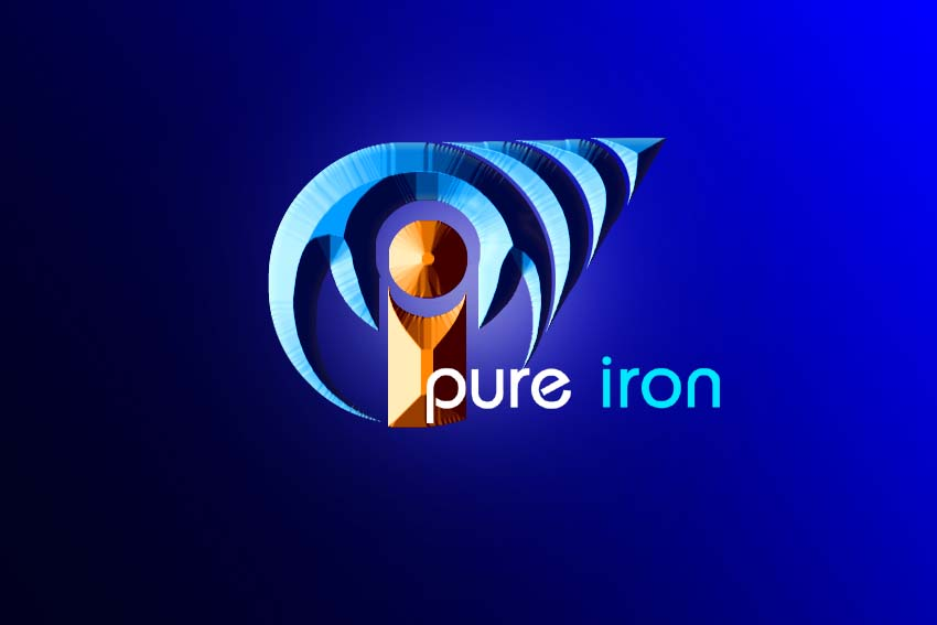 Logo Design by Private User - Entry No. 257 in the Logo Design Contest Fun Logo Design for Pure Iron.