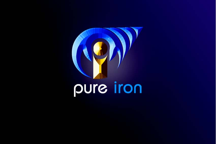 Logo Design by Private User - Entry No. 258 in the Logo Design Contest Fun Logo Design for Pure Iron.