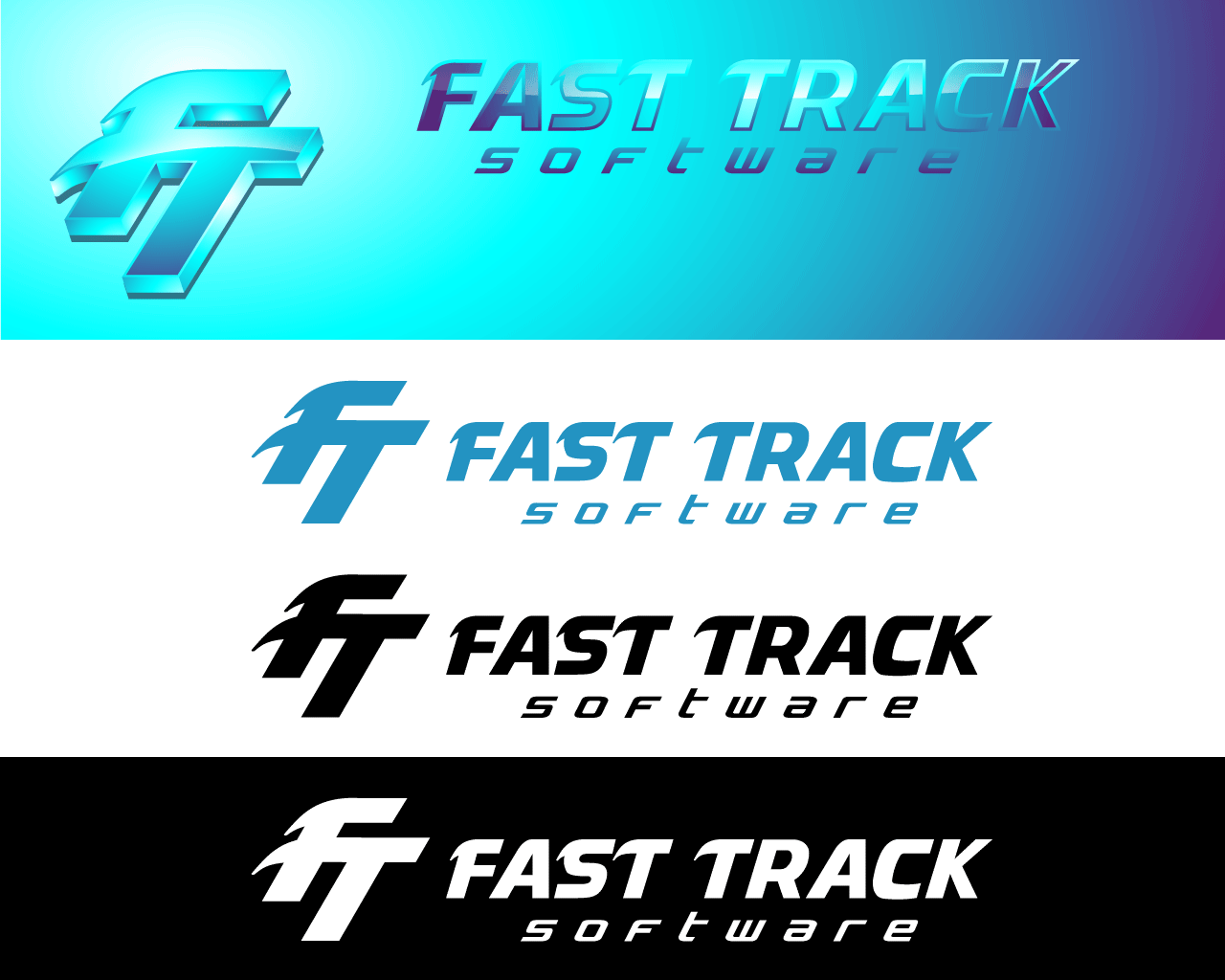 Logo Design by Omar Martinez - Entry No. 12 in the Logo Design Contest Fast Trak Software Logo Design.