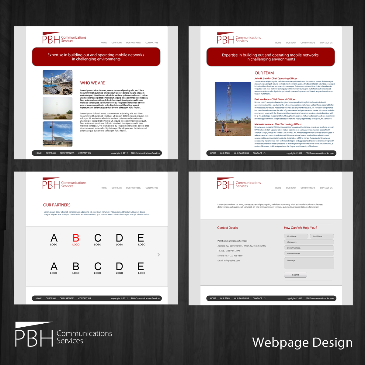 Web Page Design by storm - Entry No. 64 in the Web Page Design Contest New Web Page Design for PBH Communications Services.