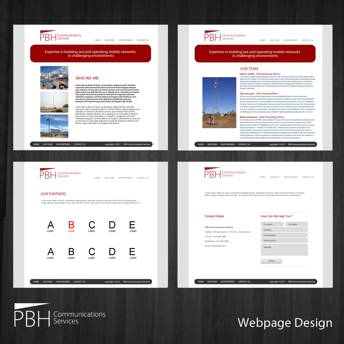 Web Page Design by storm - Entry No. 65 in the Web Page Design Contest New Web Page Design for PBH Communications Services.
