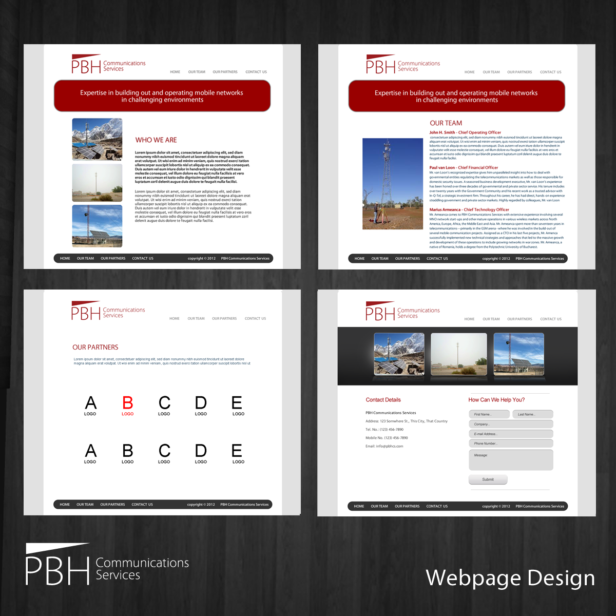Web Page Design by storm - Entry No. 68 in the Web Page Design Contest New Web Page Design for PBH Communications Services.
