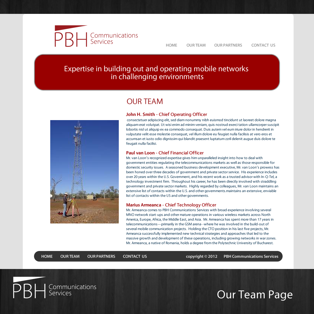 Web Page Design by storm - Entry No. 69 in the Web Page Design Contest New Web Page Design for PBH Communications Services.