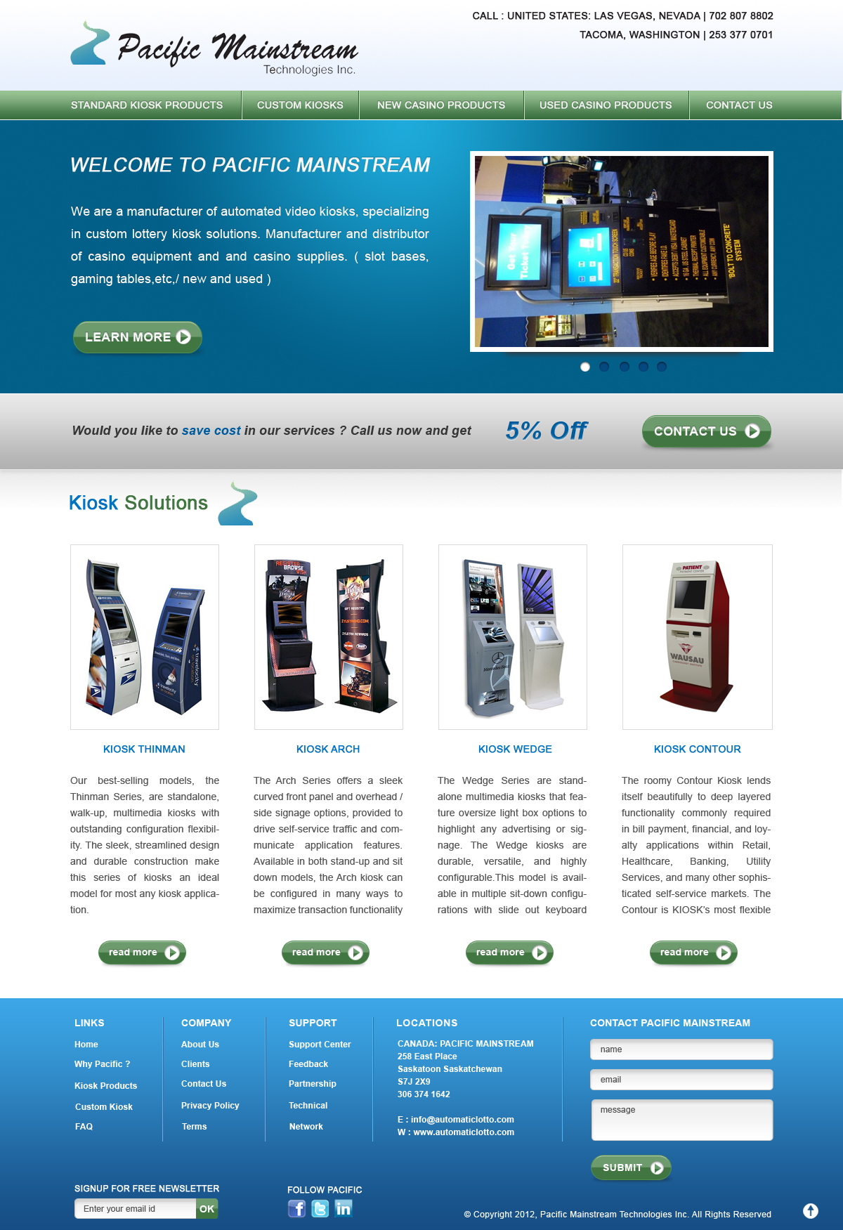 Web Page Design by Sohil Obor - Entry No. 1 in the Web Page Design Contest Fun Web Page Design for Mainstream Pacific Technologies Inc..
