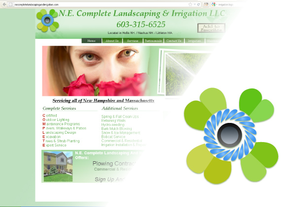 Logo Design by Indra Kurnia - Entry No. 1 in the Logo Design Contest Fun Logo Design for ne complete landscaping and irrigation.