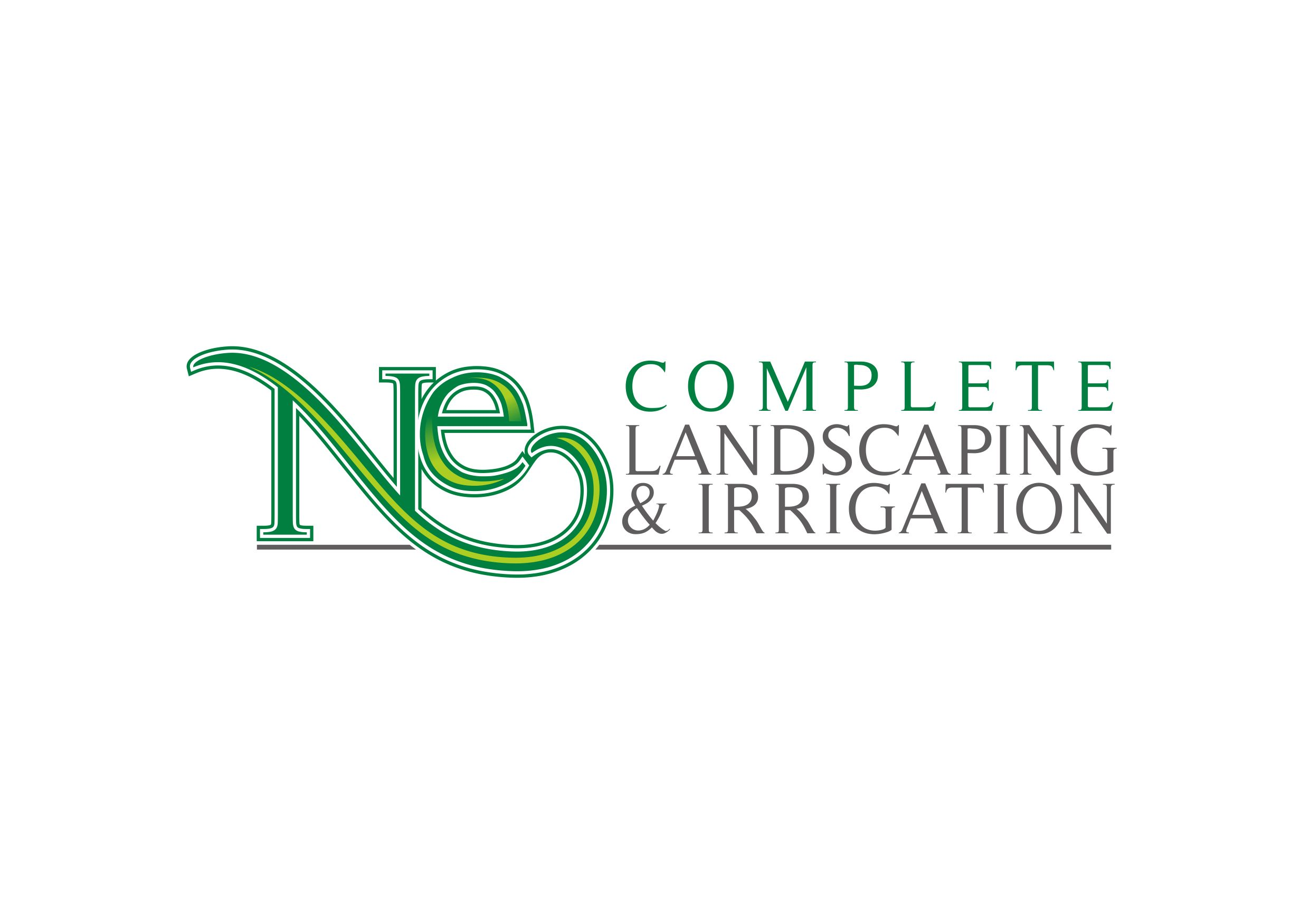 Logo Design by Teguh Mudjianto - Entry No. 5 in the Logo Design Contest Fun Logo Design for ne complete landscaping and irrigation.