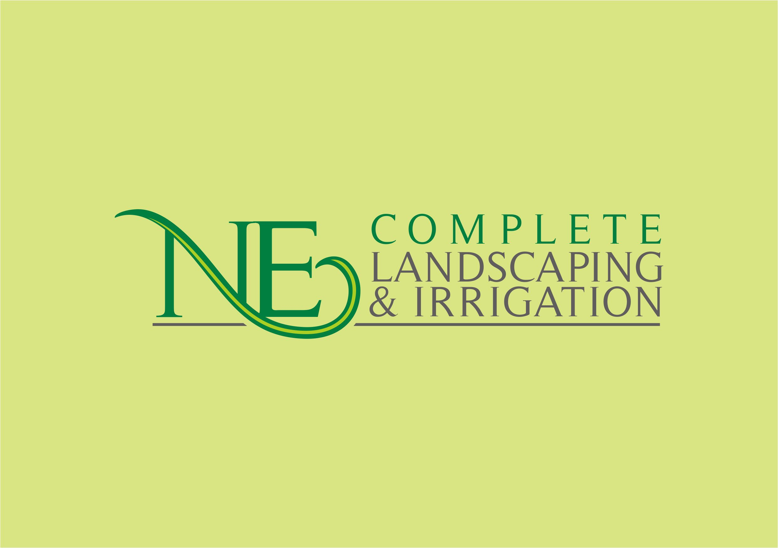 Logo Design by Teguh Mudjianto - Entry No. 6 in the Logo Design Contest Fun Logo Design for ne complete landscaping and irrigation.