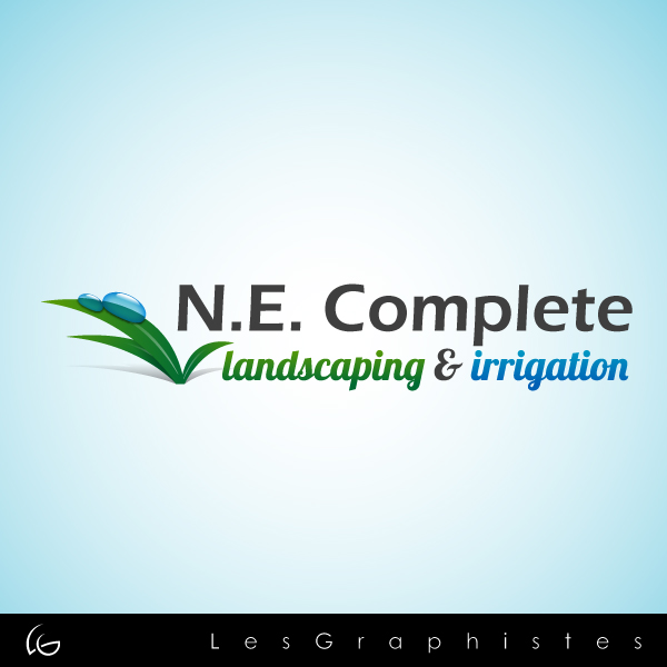 Logo Design by Les-Graphistes - Entry No. 15 in the Logo Design Contest Fun Logo Design for ne complete landscaping and irrigation.