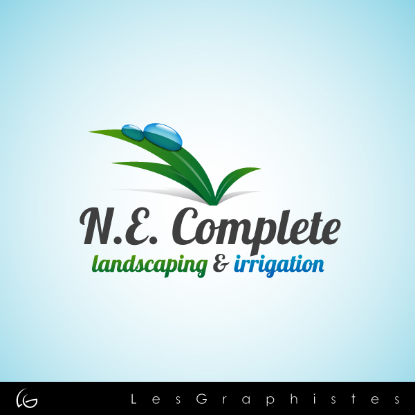 Logo Design by Les-Graphistes - Entry No. 16 in the Logo Design Contest Fun Logo Design for ne complete landscaping and irrigation.