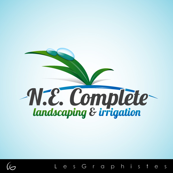 Logo Design by Les-Graphistes - Entry No. 17 in the Logo Design Contest Fun Logo Design for ne complete landscaping and irrigation.