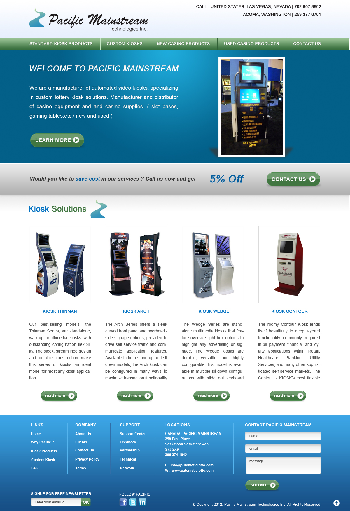 Web Page Design by Sohil Obor - Entry No. 6 in the Web Page Design Contest Fun Web Page Design for Mainstream Pacific Technologies Inc..