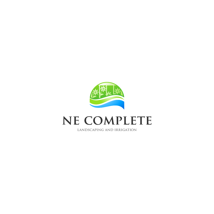 Logo Design by zesthar - Entry No. 22 in the Logo Design Contest Fun Logo Design for ne complete landscaping and irrigation.