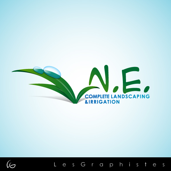 Logo Design by Les-Graphistes - Entry No. 26 in the Logo Design Contest Fun Logo Design for ne complete landscaping and irrigation.