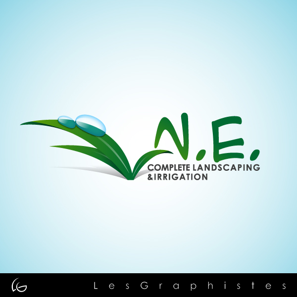 Logo Design by Les-Graphistes - Entry No. 27 in the Logo Design Contest Fun Logo Design for ne complete landscaping and irrigation.