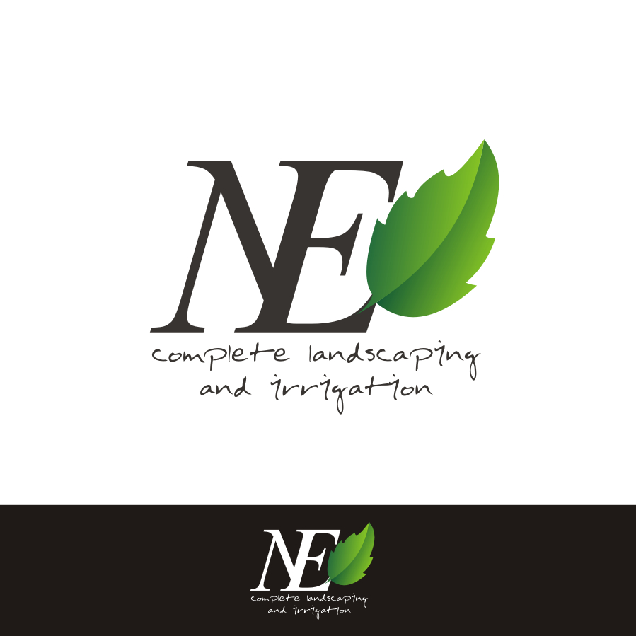 Logo Design by Rendra Jannu - Entry No. 37 in the Logo Design Contest Fun Logo Design for ne complete landscaping and irrigation.