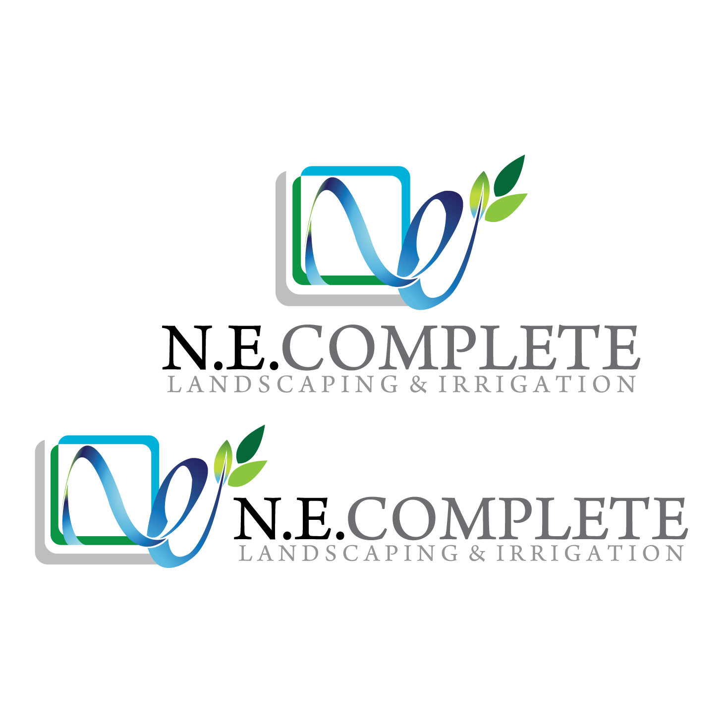 Logo Design by stormbighit - Entry No. 40 in the Logo Design Contest Fun Logo Design for ne complete landscaping and irrigation.
