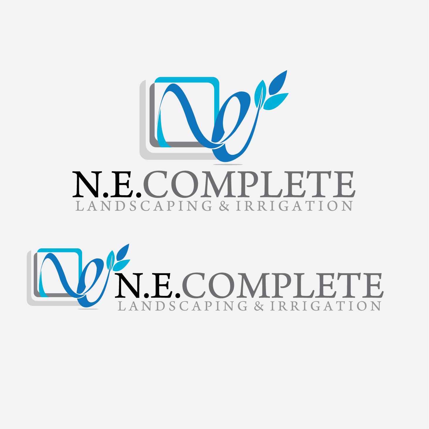 Logo Design by stormbighit - Entry No. 41 in the Logo Design Contest Fun Logo Design for ne complete landscaping and irrigation.